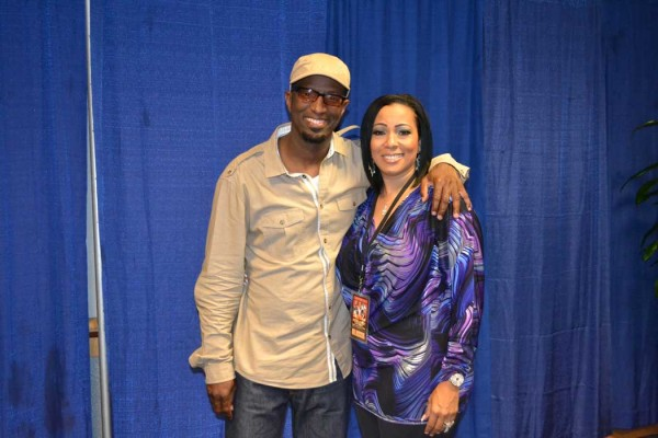 Lexi Lewis with Rickey Smiley